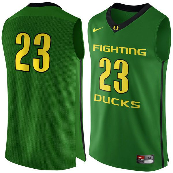 #23 Oregon Ducks Nike Basketball Jersey - Apple Green