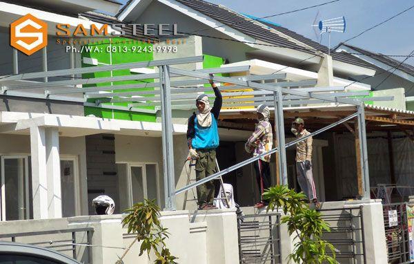 harga atap baja ringan untuk kanopi 0813 9243 9998 tsel minimalis citraland bsb