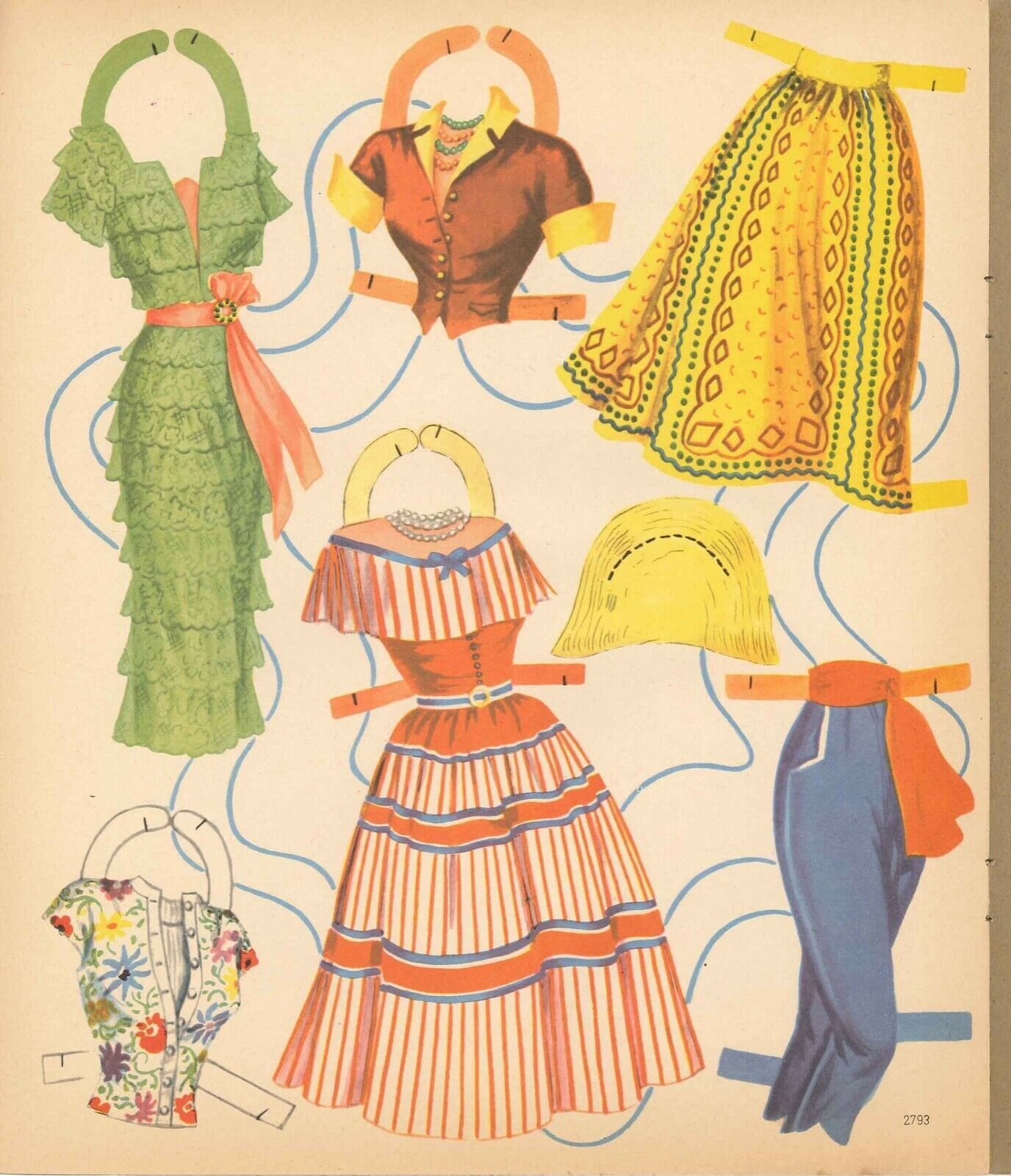 Details About Vng Uncut Well Dress Girl Paper Doll
