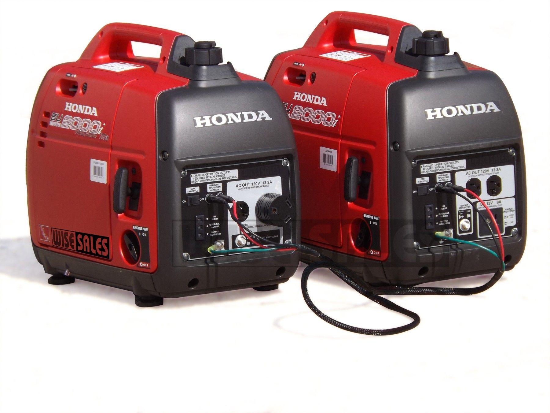 Honda Eu2000i Combo Package This Package Will Give You Full Use Of Your 30 Amp Rv Plug Honda S Eu2000i Generators For Sale Honda Generator Inverter Generator