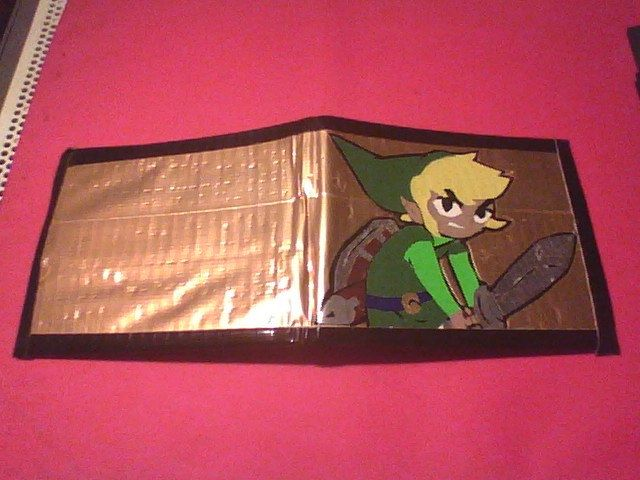 Nintendo The Legend of Zelda Toon Link Duct tape Wallet. $14.00, via Etsy.