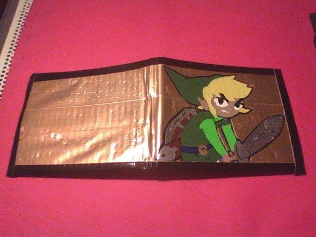 Nintendo The Legend of Zelda Toon Link Duct tape Wallet. $14.00, via Etsy.