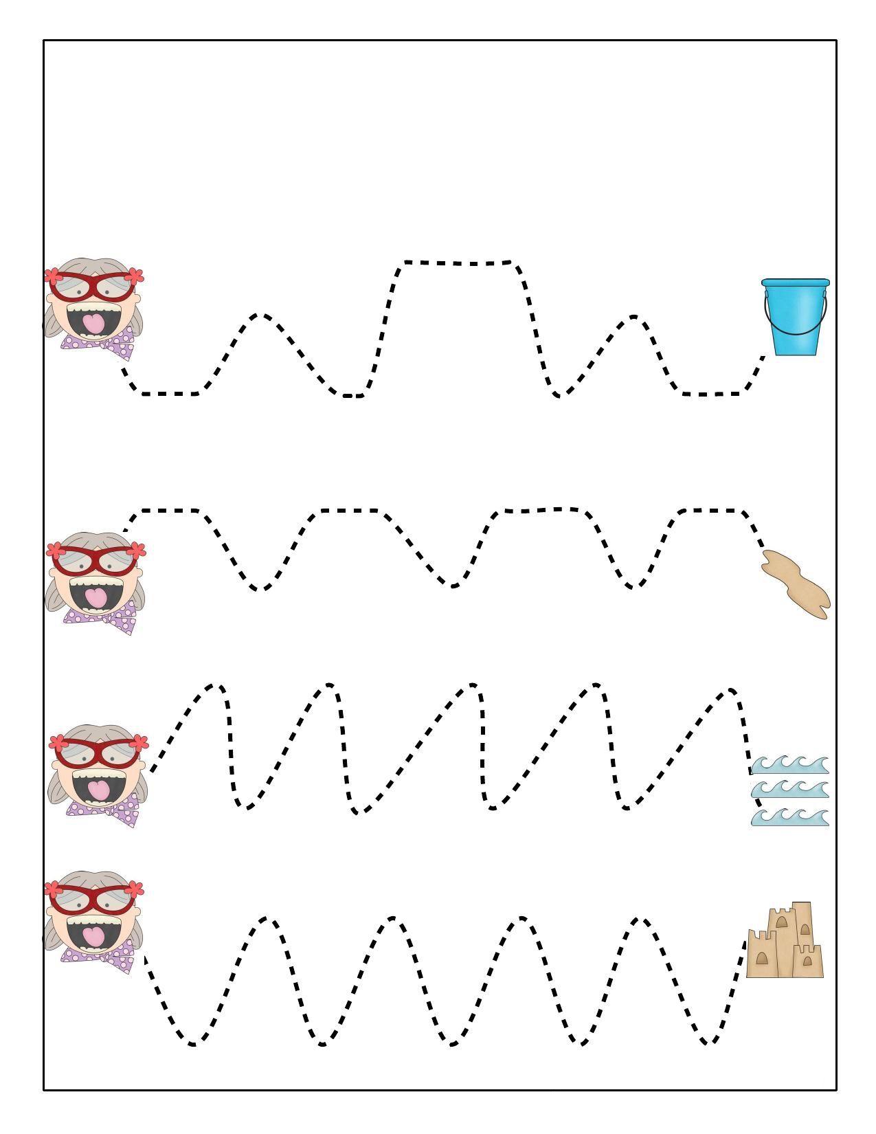Lato Szlaczki 2 Cwiczenie Raczki Nauka Pisania Do Pobrania I Wydruku Dla Dzieci Przedszkolakow Uczniow Darmowe Karty Pracy Cards Playing Cards Montessori