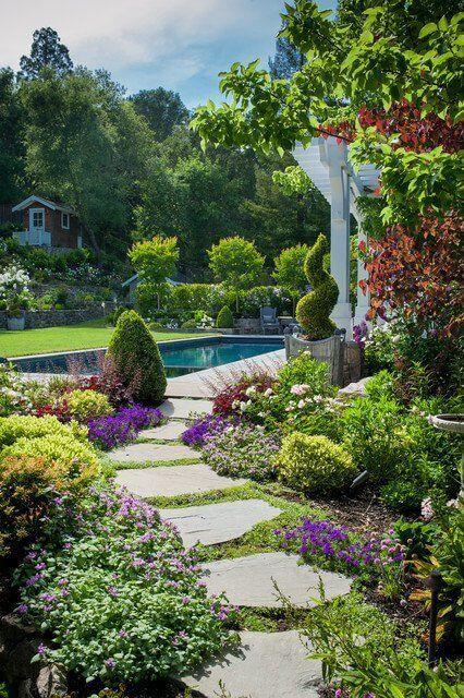 37 Flower Landscape Design Ideas To Have A Colorful Garden Backyard Landscaping Designs Outdoor Gardens Beautiful Gardens