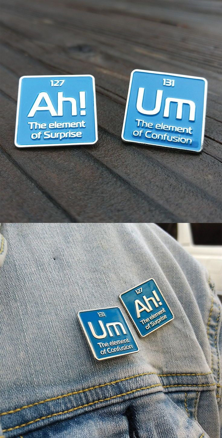 enamel pin - Science enamel pins - periodic element pin - funny pins - pin set - science pin -science pins - lapel pin - lapel pins