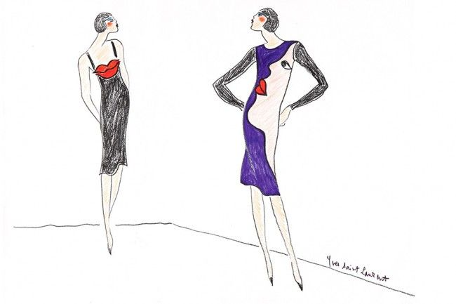 Pin von INTERSTYLEPARIS auf #YVES SAINT-LAURENT croquis