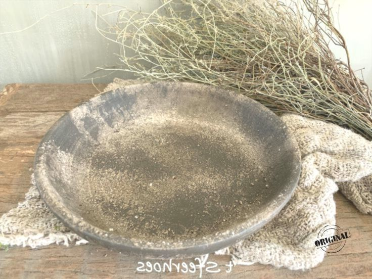 old stone dish