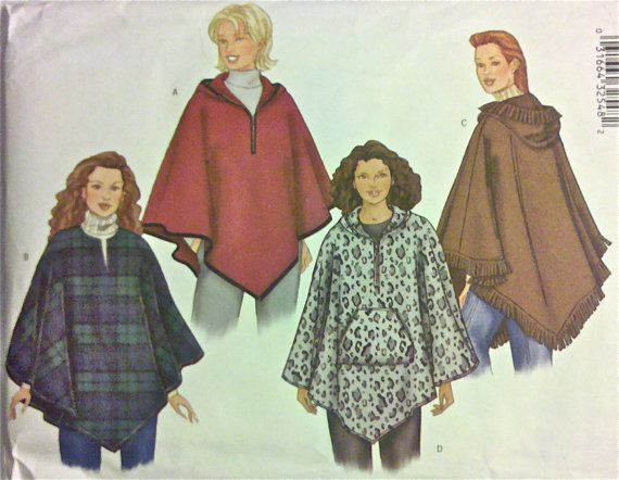 PONCHO & CAPE Sewing Pattern - Capes Ponchos - 3 Sizes | Pinterest ...