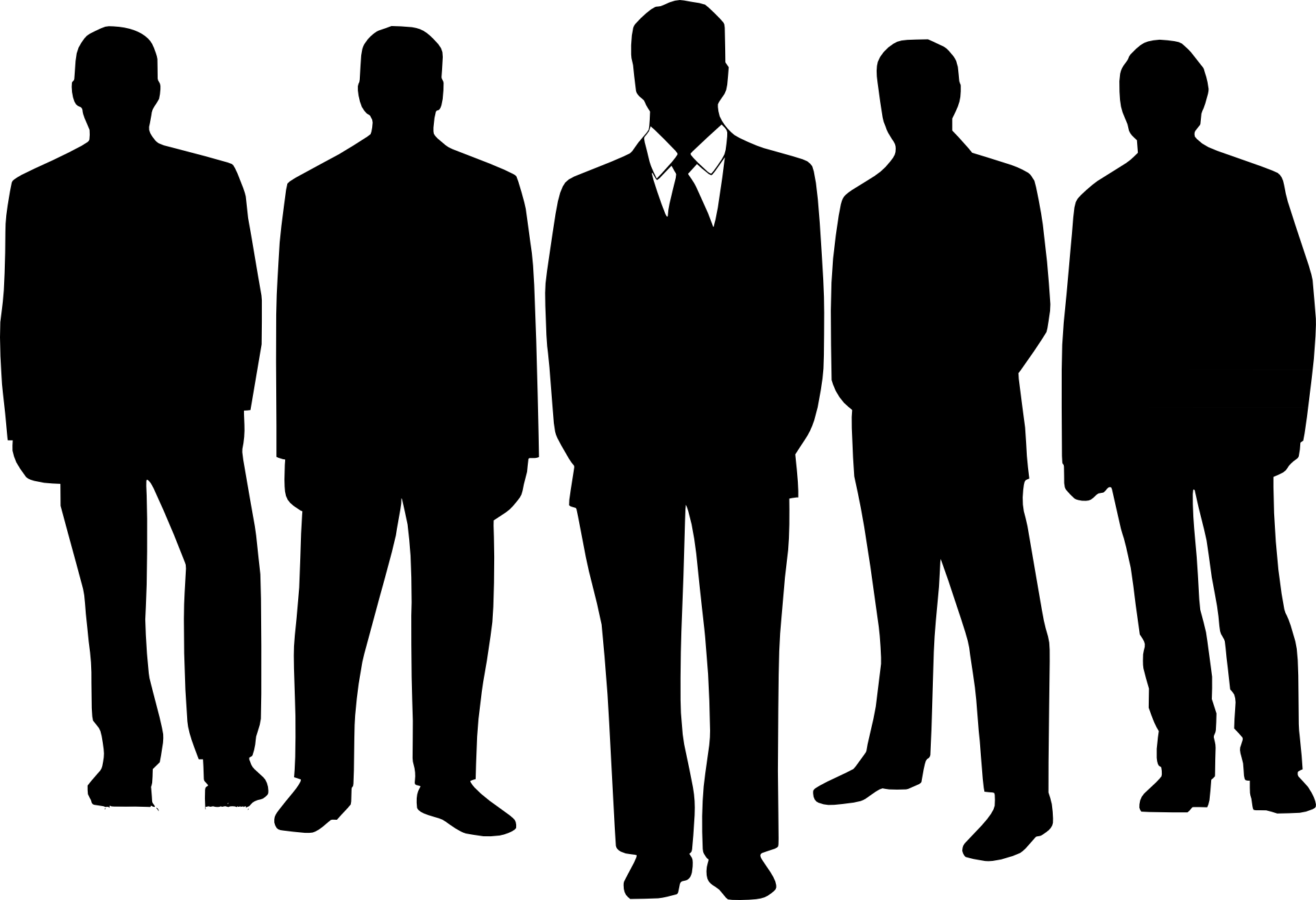 small resolution of business people silhouette clipart panda free clipart images