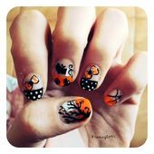 Photo of Halloween french by francy2094  Nail Art Gallery nailartgallery.na by Nails