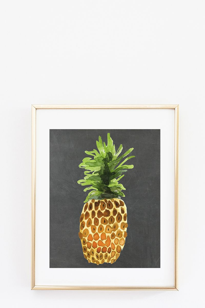Framed Prints For Kitchens Kitchen Appliance Sale Free Wall Art Fruit Series Diy Home Decor Projects Pineapple Chalkboard Souther Printables Gallery Decorating Ideas