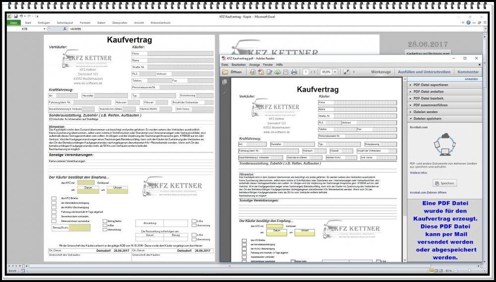 Elektronischer digitaler KFZ Handel Kaufvertrag Gebrauchtwagen ...