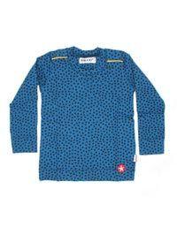 Blauw baby longsleeve shirt met sterren - Kik*Kid