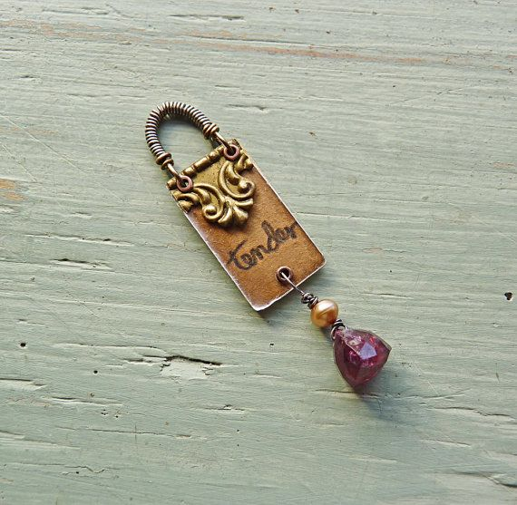 tender garnet valentine pendant by ninabagley on Etsy