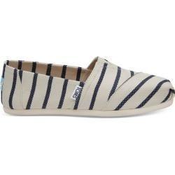 Toms Schuhe Weiß Dunkelblau Riviera Striped Classics Für Damen  Größe 39 TomsToms Toms Schuhe Weiß Dunkelblau Riviera Striped Classics Fü...