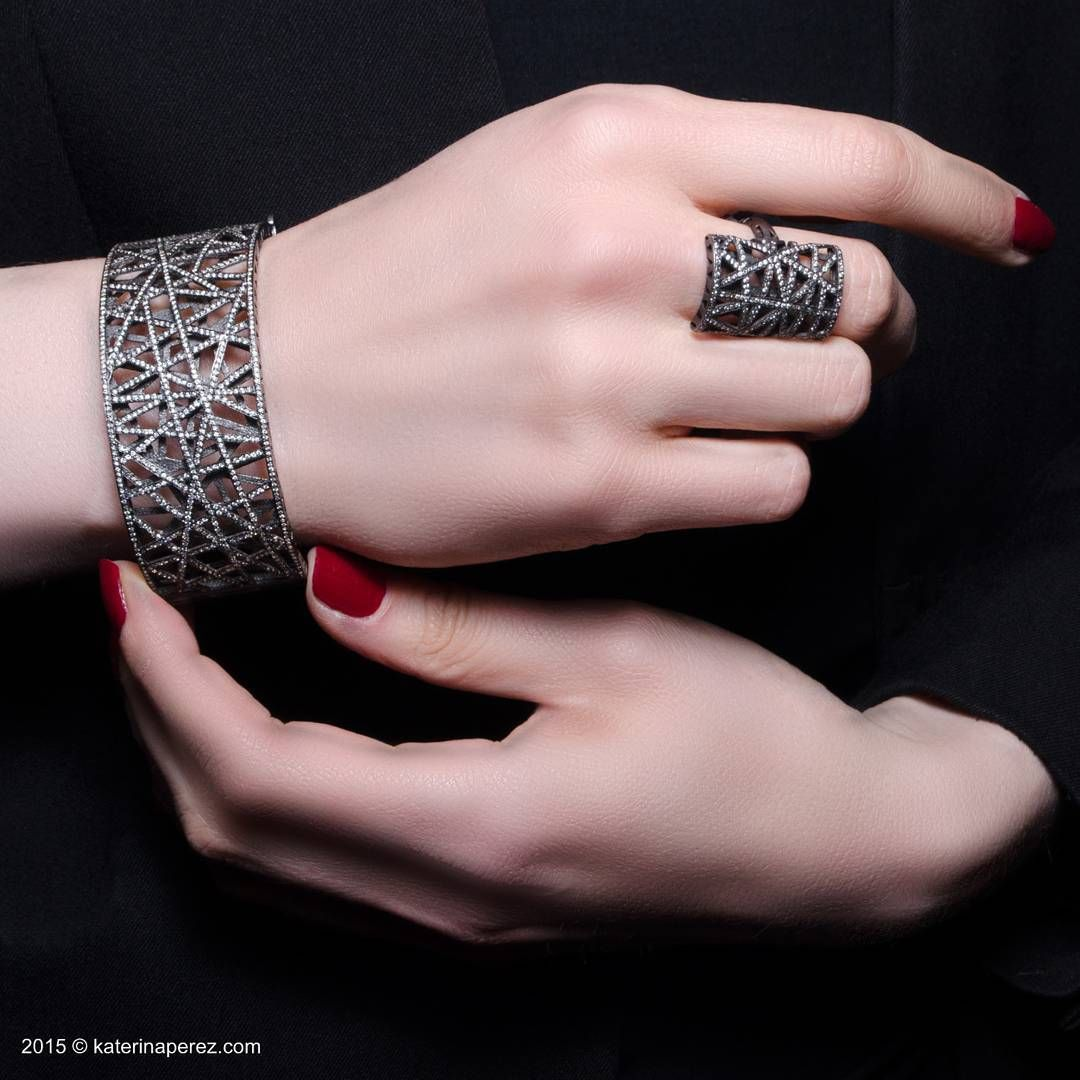 This bracelet and ring by yossi harrari remind me of a web that