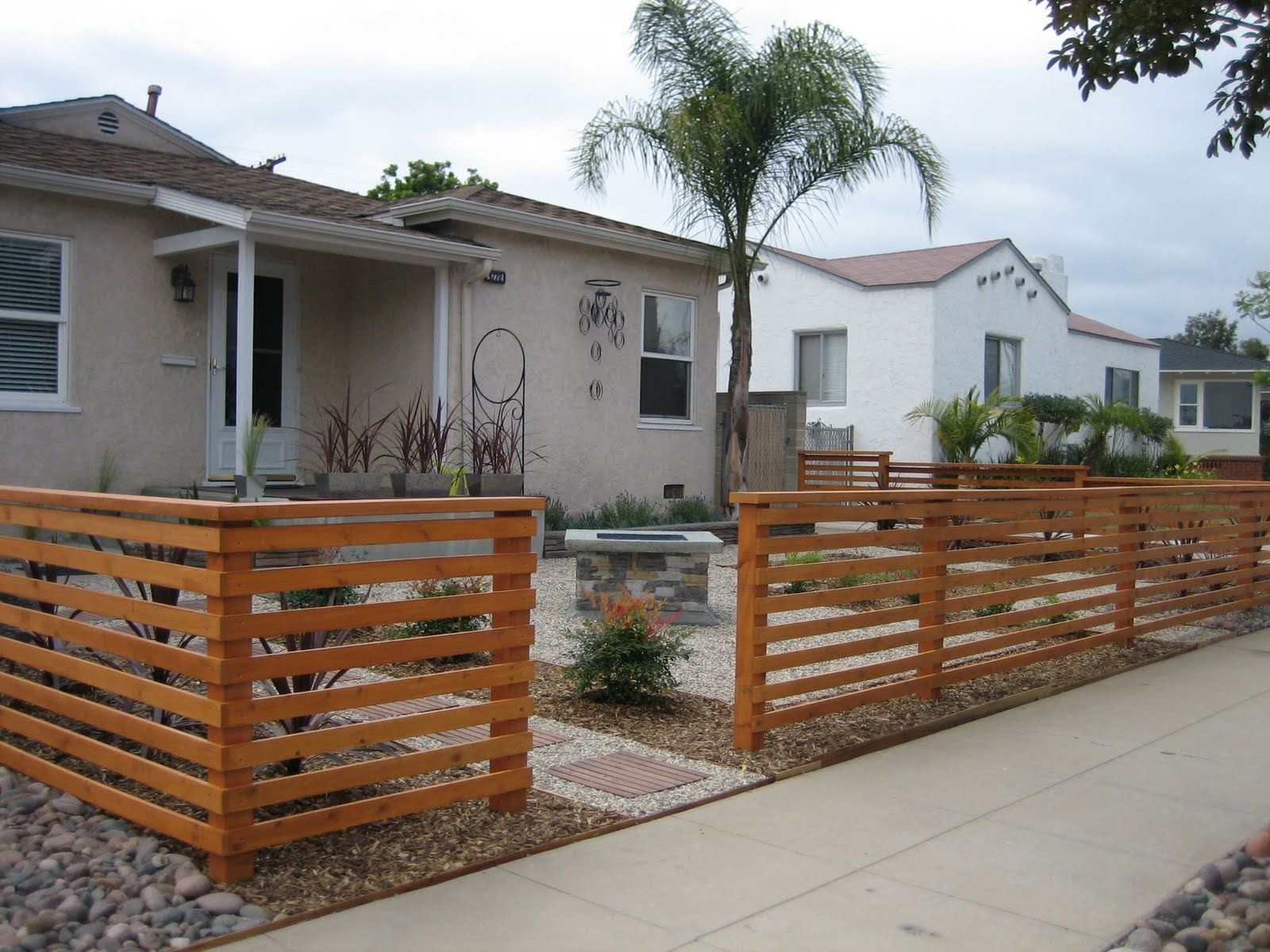 Fencing ideas for front yards - Front Porch Horizontal Fence Posted By Van Nuis Design At 7 30 Pm 0comments