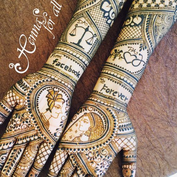 Mehndi For Doctors : Love story henna the trending new bridal mehndi design