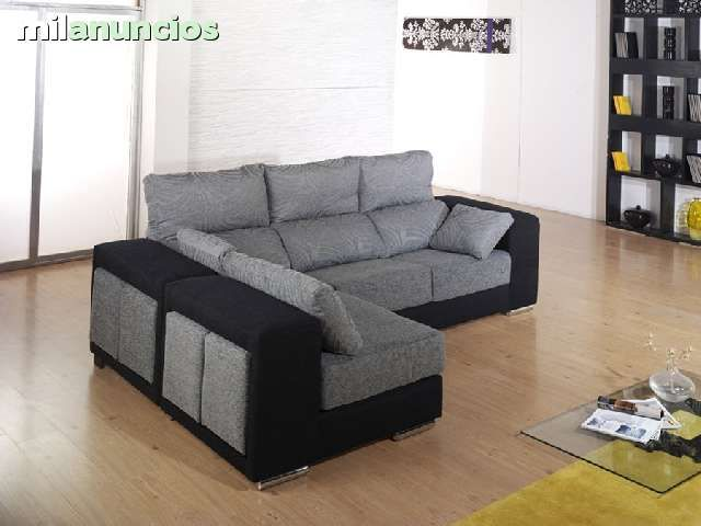 Sofa chaiselongue reversible asientos extraibles y cabezales
