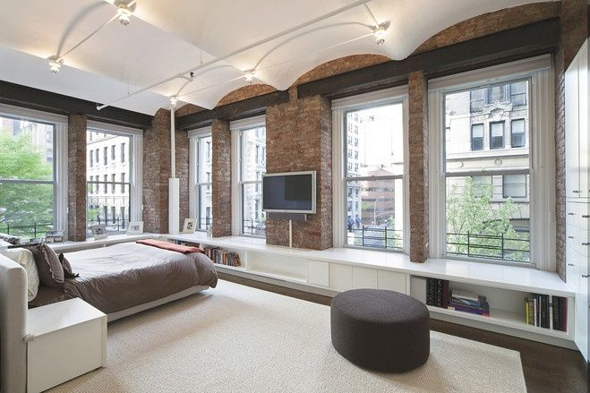 NoHo Loft Apartment Modern Decor Exposed Brick Walls NYC New York
