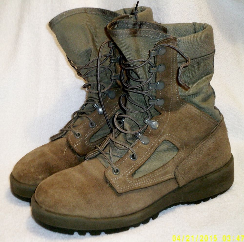 Belleville Female Combat Boots F600 Size 8.5R Military Air