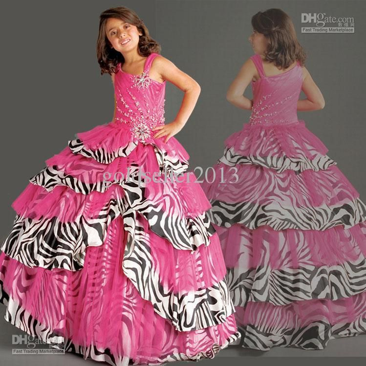 Wholesale Girl\'s Pageant Dresses - Buy Best-selling Fuchsia Organza ...