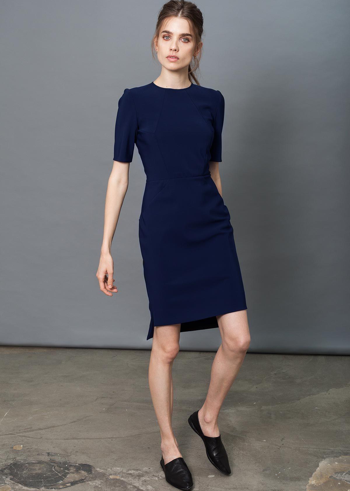 Victory Dress Black Dai Short Sleeve Shift Dress Dresses Staple Dress [ 1680 x 1200 Pixel ]