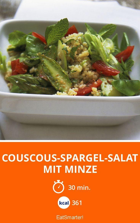 Couscous-Spargel-Salat mit Minze - smarter - Kalorien: 361 Kcal - Zeit: 30 Min. | eatsmarter.de