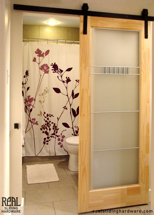 Bathroom Doors Plastic space saving sliding door. the center could be a light weight