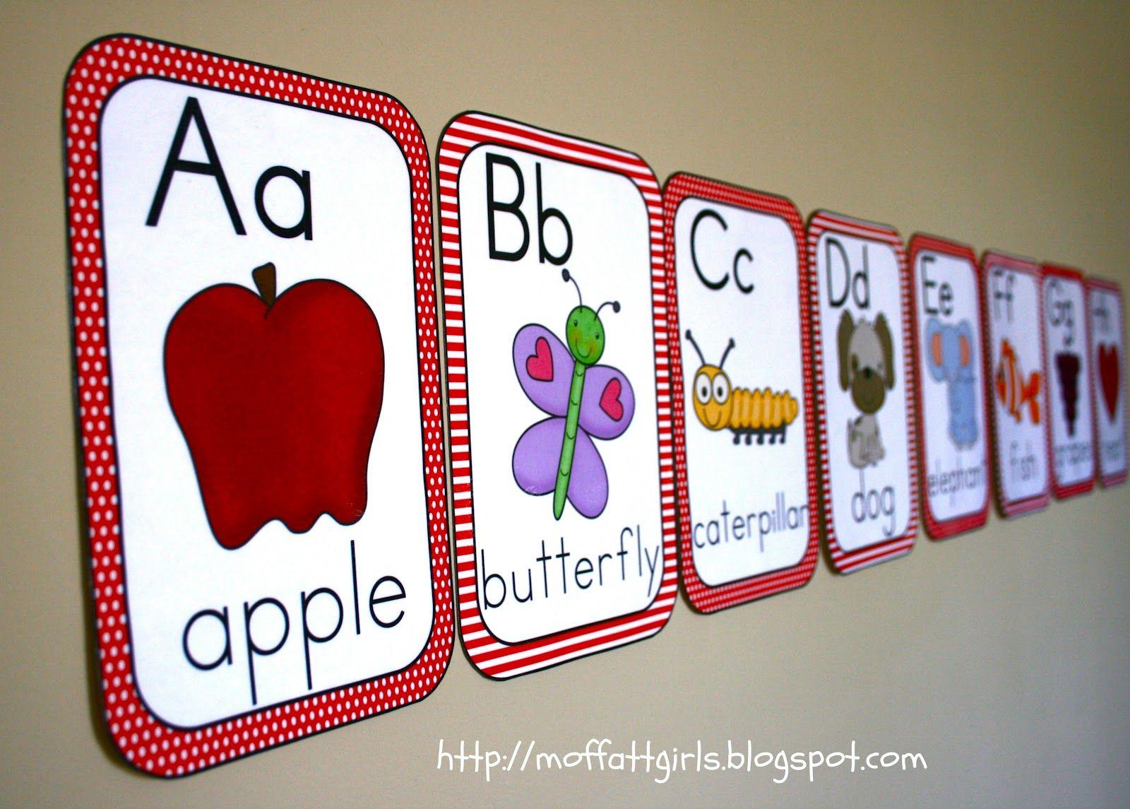 Classroom Alphabet Decor ~ Cutesify your classroom part abc cards decor