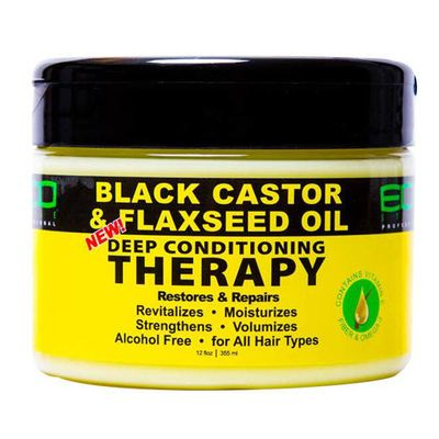 Eco Style Black Castor Oil Flaxseed Oil Deep Conditioner Black