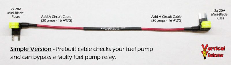 Tipm Fuel Pump Relay Simple Bypass Cable 2007 2016 Caravan Town