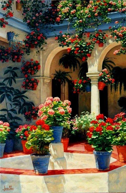 Patio Andaluz Home Mexican Patio Spanish Garden Mexican Courtyard