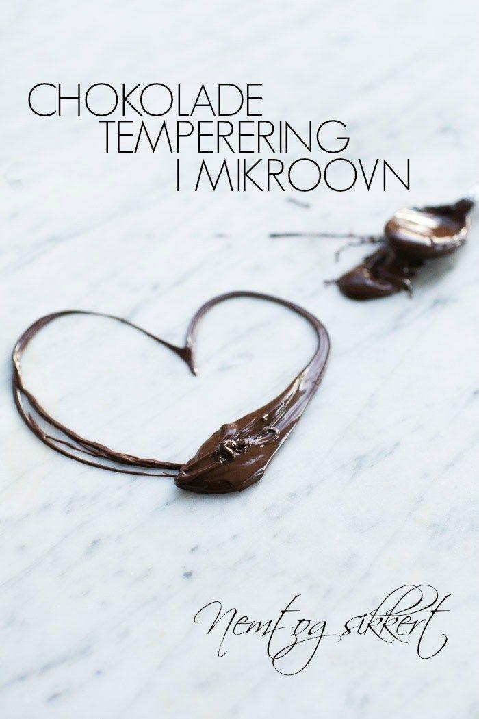 Sadan Temperere Du Chokolade I Mikroovn Nem Trin For Trin Guide Opskrift Med Billeder Chokolade Kage Sprojteteknik