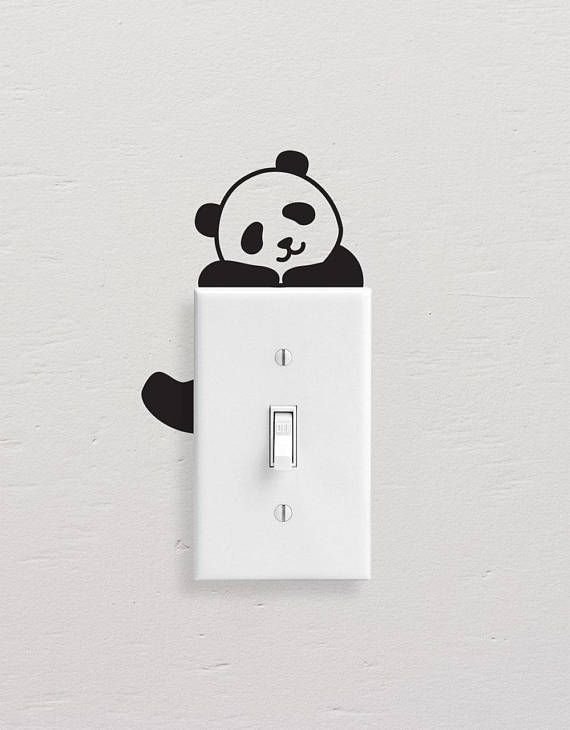 New Bear Table Lamp Switch Stickers Luminous Stickers Fluorescent Stickers Decorative Wall Stickers Home & Garden Home Decor