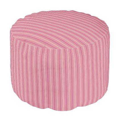 HAMbWG Pouf Chair - Pink Gradient Stripes