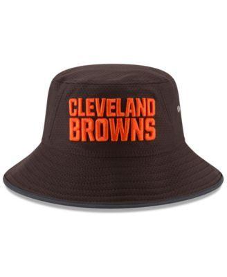 New Era Cleveland Browns Training Bucket Hat - Brown Adjustable ... 595a221ee