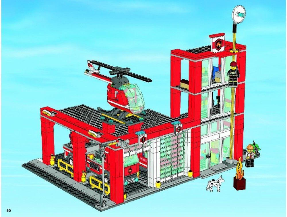 City Fire Station Lego 60004 Lego Pinterest Lego