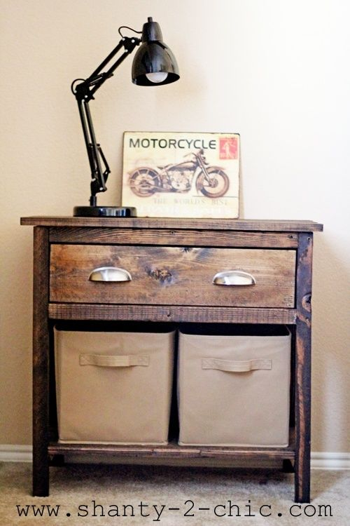 DIY Night Stand For the Home Diy nightstand, Farmhouse