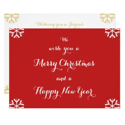 Merry Christmas Happy New Year Custom Holiday Card