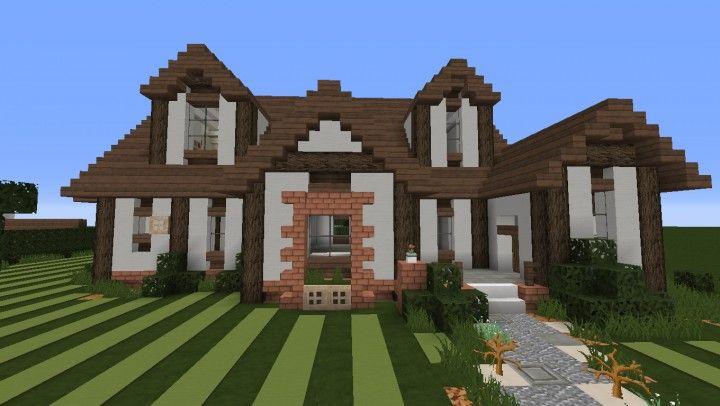 Tudor Style House Minecraft Project Tudor Style Homes Cute Minecraft Houses Minecraft Projects