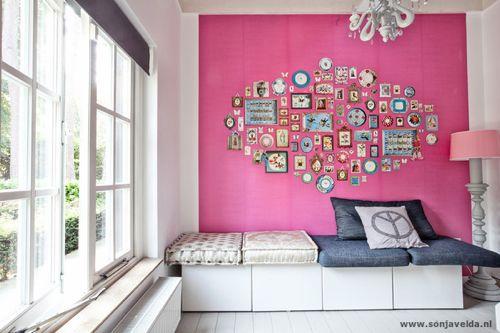 Montage: Pink Living Rooms | Home Design | Pinterest | Pink walls ...