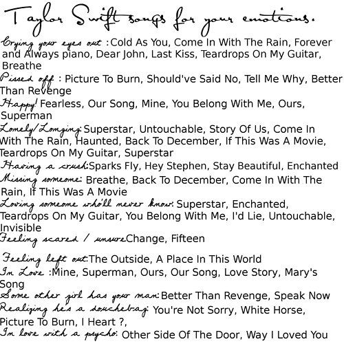 Taylor Swift has a song for everything.