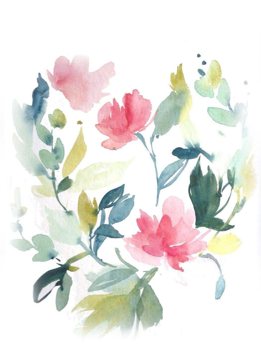 Epingle Par Dora Laszlo Sur Watercolour Nature Tutoriel Fleurs