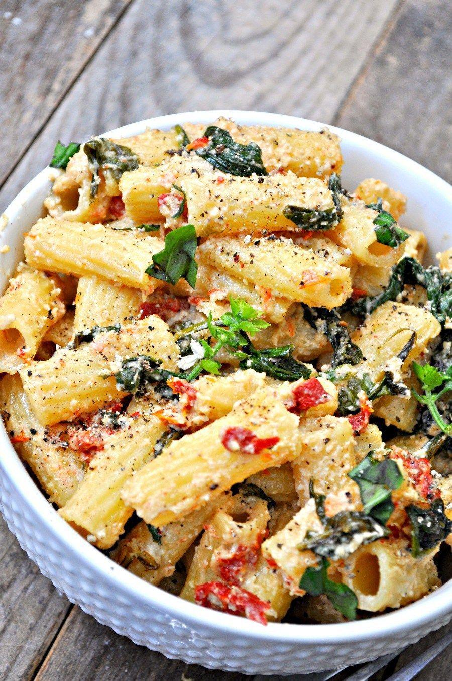 Vegan Tuscan Rigatoni By Rabbit And Wolves In 2020 Vegan Pasta Recipes Vegetarian Recipes Pasta Dishes