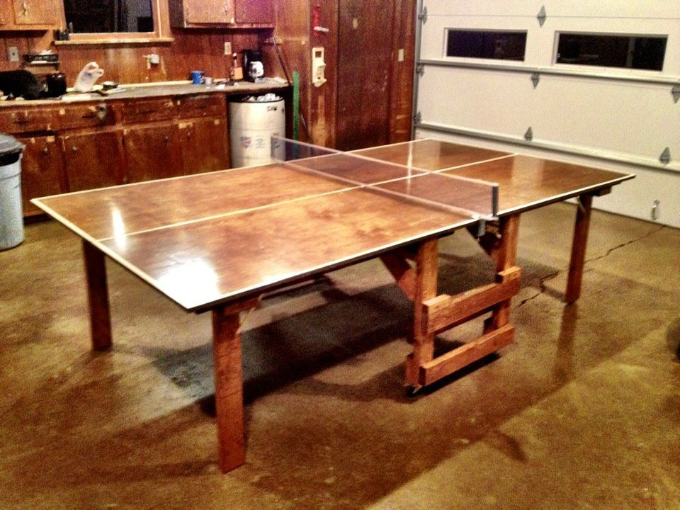 My little brother's first DIY A ping pong table Ping