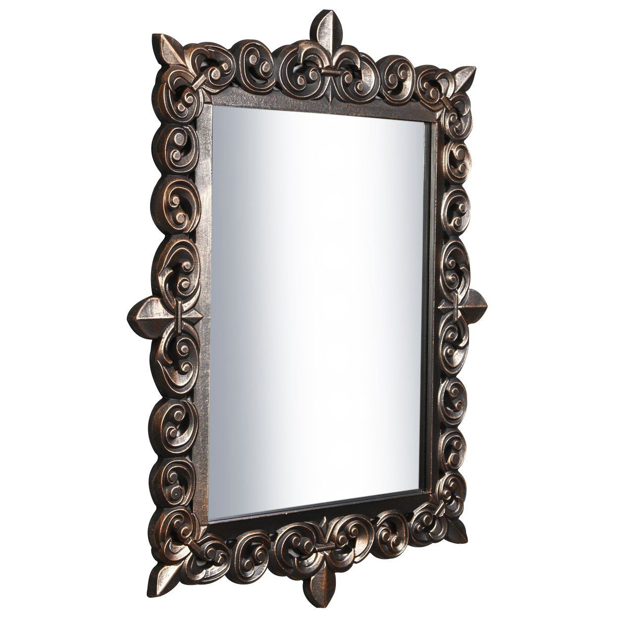 Jharokha wall mirror from india as described by russell johnson large heavy duty square baroque ornate wall hanging rococo mirror gold bronze amazon amipublicfo Gallery