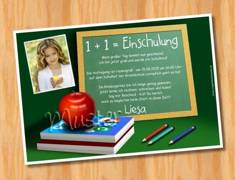 einladungskarten einladung einschulung mit foto von