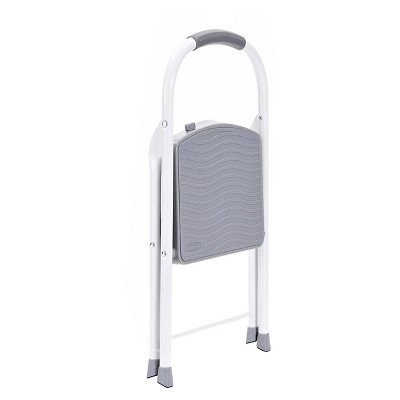 Groovy Rubbermaid Steel Step Stool 1 Step Silver Products Machost Co Dining Chair Design Ideas Machostcouk