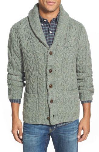 8fb804111e7b29 Polo-Ralph-Lauren-Men-Wool-amp-Cashmere-Shawl-Cable-Knit-Sweater-Cardigan-XL